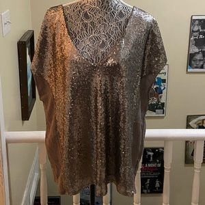 Stella and Dot Sequin Blouse